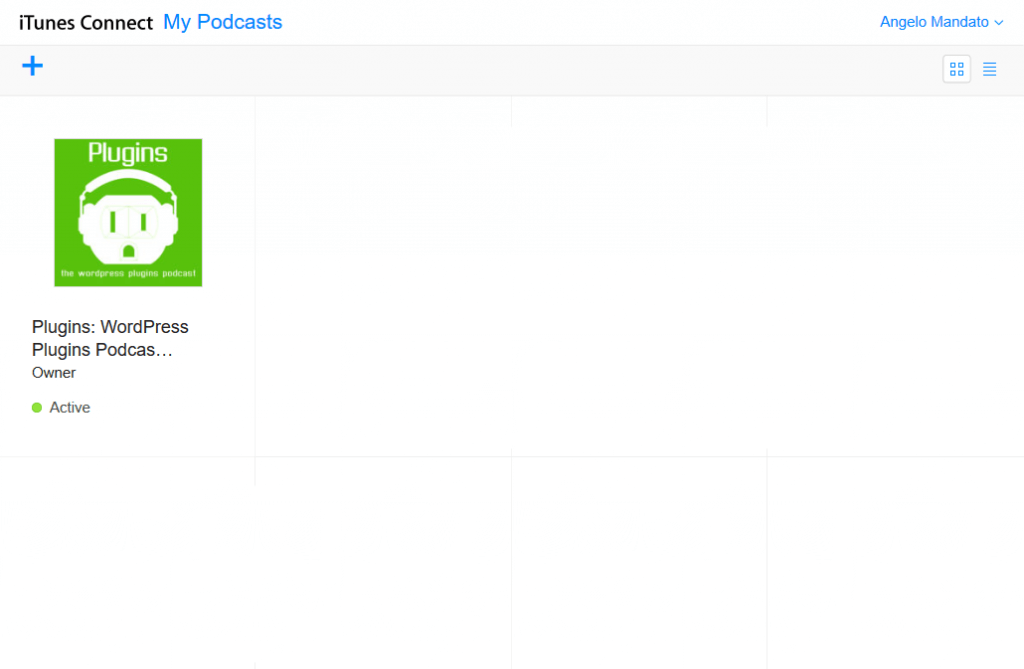 iTunes Podcast Connect