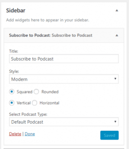 PowerPress 8.0: subscribe sidebar options